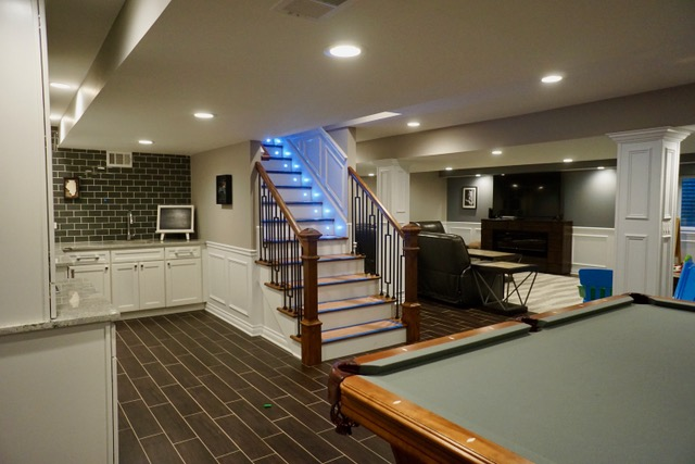 Photos Ideas Finished Basements Projects Chicago Suburbs Simple Basement Remodeling Chicago