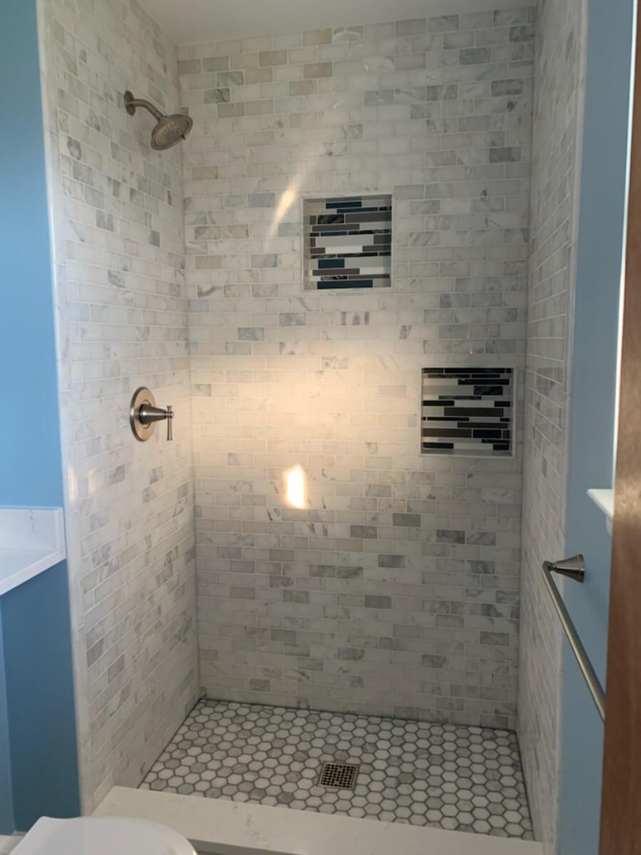 Bathroom Remodel 1b Tile Shower