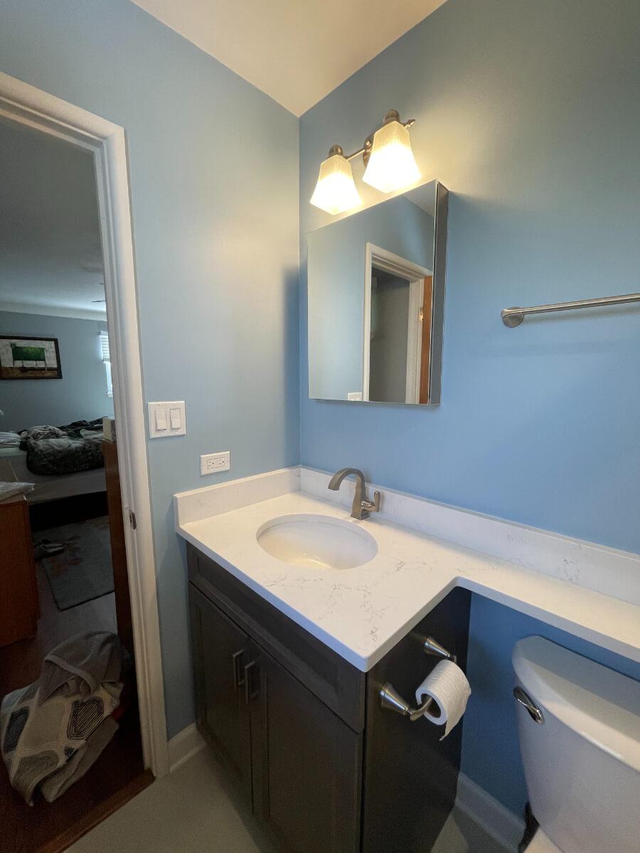 Bathroom Remodel 2a New Vanity
